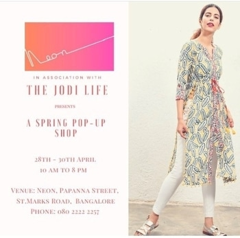 Hello B A N G A L O R E  We are popping up @neon.blr this week. Shop our summer ready handcrafted pieces. #jodiinbangalore