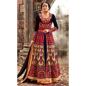 We have a wide range of StraightSuits to make you feel beautiful on your special day. With Beautiful collection of designer Embroidery Sarees Online of your choice at affordable prices.  http://www.ishimaya.com/salwar-kameez/deepneck.html?utm_source=roposo&utm_medium=refferal&utm_campaign=smo