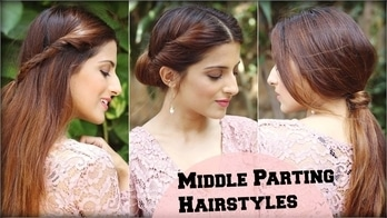 3 CUTE & EASY Everyday Middle Partition Hairstyles For School, College, Work/ Indian Hairstyles #roposolook #roposolove #soroposolove #soroposo #diy #hair #hairdo #hairstyletips #hairstyleoftheday #haircolour #easytodo #easyhairstyle #quickhairstyles #updo #bun #knotmepretty #hairaccessories