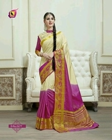 Cream and Rani Colour Party Wear Tusser Silk Cotton Saree With Designer Border. Price - 1350 Rs.Free Delivery in India with an option to pay Online or Cash on delivery. Buy now at  http://www.buyapparel.in/sarees/new-arrivals-latest-trendy-designer-sarees-collection/cream-and-rani-colour-party-wear-tusser-silk-cotton-saree-with-designer-border.html?___SID=U  #BuyApparel #mystylemantra #stylemantra #stylemania #summerfashion #shopping #womensfashion#fashion #followme #ethnic    For Inquires - Call / Whatsapp us at +91 8460268560.