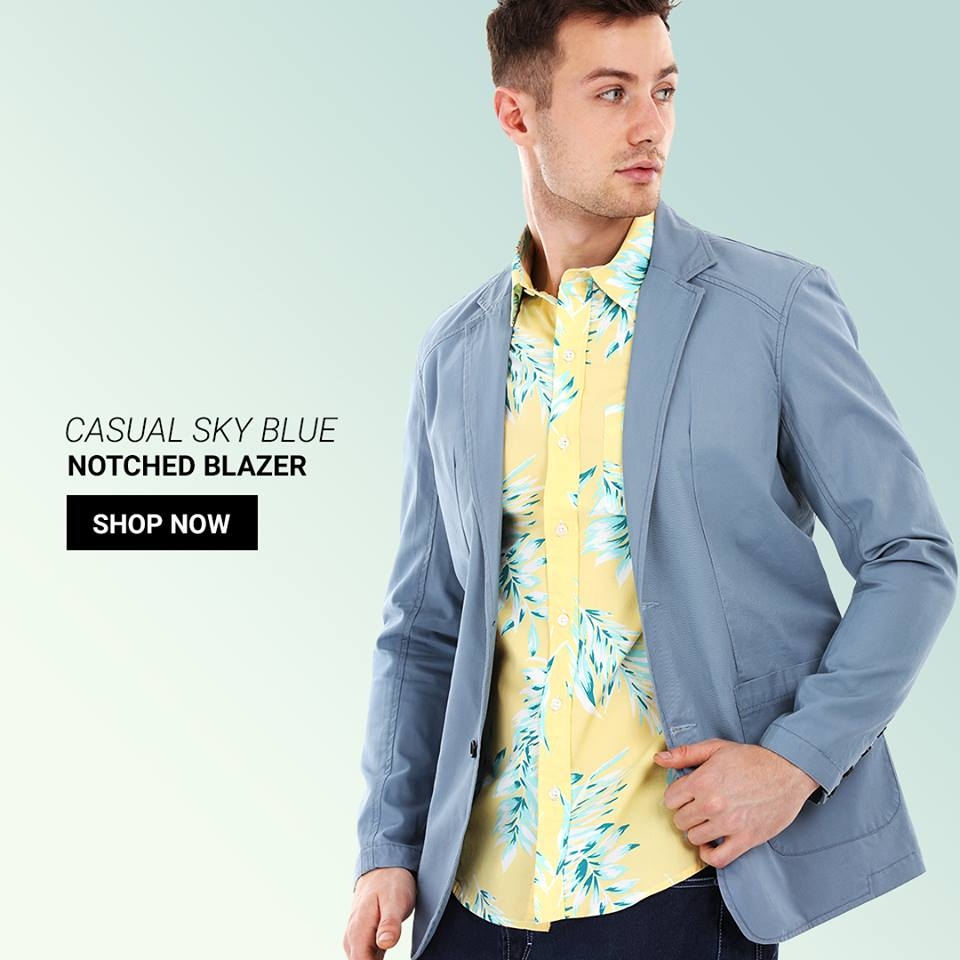 Why let the summer heat bring you down, stay cool and comfortable in this lightweight unstructured casual blazer for men.  Shop this style @ https://goo.gl/Xpcbv1  #fashion #shopping #online #menswear #blazers #newarrivals