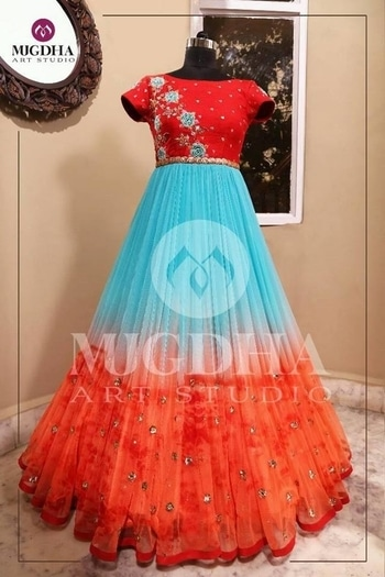 Beautiful Anarkali with lovely color combination. We can customize the color and size as per your requirement. Product code : MA-117 To Order with us : whatsapp +91 8142029190/ 9010906544  For Call: 8899840840 (IVR)   #roposostyle #summerstyle  #casual #new-style #partystarter #shopping