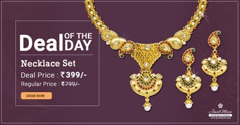 Deal of the Day Gold Plated Maroon & Green Necklace Set @ Rs. 399/- Shop Now : https://goo.gl/Hdd8Cj #shoponline #necklace #dealoftheday #jewellery #jewelmaze
