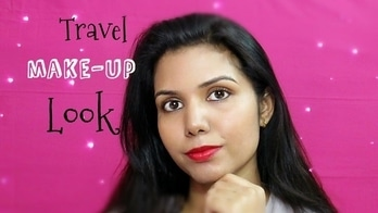 Go To Travel Makeup look & Hairstyle For Beginners | ominstyles