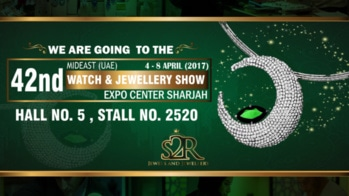 S2R Jewels and Jewellery is #GoingInternational ✈ We will be at the 42ndMidEast Watch & Jewellery Show 2017 At The Expo Centre Sharjah (UAE) Between 4th & 8th April (2017) ✨Visit Us At Stall No. 2520 ( Hall No. 5 ) & #Experience Our #Latest Collection Of #Handcrafted Jewels That Will Be On Display #Exclusively 😍 #SiddharthGarg #S2R #S2Rjewelsandjeweller #MidEastWJShow #Sharjah #ExpoCenterSharjah #InternationalExhibition #UniqueDesigns #NatureInspired #Diamond #Necklaces #Brilliant #Fashion #Gold #Beautiful #Minimalistic #Exquisite #Jewelry #Sparkle #Crafted #Dazzle #Bling #DiamondJewelry #Elegance