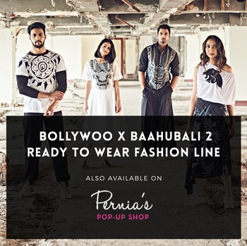 All this BollyWoo X Baahubali 2 exclusivity now accessible through on Pernia's Pop-Up Shop too. Get that scoop of chic today!  #BollywoodDecoded #BollyOverMolly #StopTheScreen #ShopTheScreen #OfficiallyStolen #StardomInaBox #DontSnapDontFlipJustWoo #bollywoodwardrobe #style #fashion #modest #stardom #sexy #trendy #cool #Quirk #Baahubali #Wkkb #Baahubali2 #fashionforver #elegantfashion #classylook #chic #exclusive  Bollywood's official experience store - www.BollyWoo.ooo