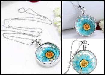 Dry Flower Silver Round Statement Necklace Pendant (Blue) MRP : Rs. 380/- Product Code: P1126 http://www.bouteeko.com/productdetail/dry-flower-silver-round-statement-necklace-pendant-blue