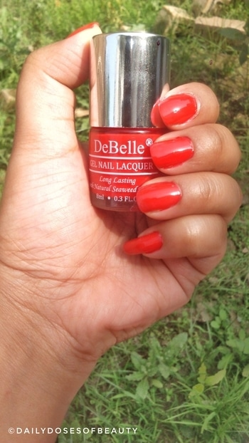 "New blog post alert 📣 📢  Reviewed this amazing pretty shade "" French Affair "" from @debellecosmetix 😍 It is a beautiful Scarlet Red with organish under tone 💕 It has Natural Seaweed Extract 😀 More detailed review and swatches up on blog 😇 . . . . Clickable link in Description bio 😇 . . . . . . . . . #nailenamel #gelfinish #beautygram #makeupmafia #luxurymakeup #makeuplove #naildesign #nailcare #beautybloggersforum #Dailydosesofbeauty #mua #makeuplove #tagforlikes #like4like #instafollow #picoftheday #followme #socialmediainfluencer #instalike #instapic #makeuplife #makeupjunkie #makeupaddict #socialmedialife #bloggerslife #indianbloggers #bloggerscommunity #debelle #debellecosmetics"