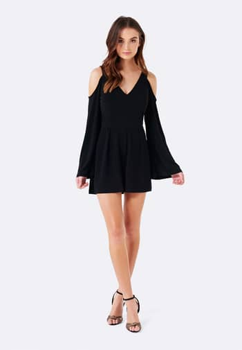 Our Phoebe Cold Shoulder Playsuit is perfect for dancing the night away #forevernewstyle