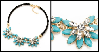 !! HURRY UP BOOK YOUR ORDERS NOW !! !! Limited In Stock !! Western Multi-Layer Rhinestone Flower Necklace (Blue) for Rs. 380/- Shop here :- http://www.bouteeko.com/productdetail/western-multi-layer-rhinestone-flower-necklace-blue