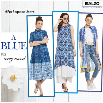 A Blue for every mood – Rs.1245  Steal the show with this stylish digital printed upper assymetrical kurti detailed with dori and tassels at both sides. Add some layers to your outfit with this double layer set of kurti. Style this with white sneakers to get the fresh and easy look. Kurti, Kurta, Tunic - https://goo.gl/RsrtSA  #ethnicwear #iralzo #womenkurti #traditionallook #kurti #pune #indowestern #wednesday #newarrival #indianwear #bluekurta #ethnicstyle #bluekurta #ethnicfashion #bangalore #chennai #gujarat #mumbai #casualtunic #casualkurta #bluetunics #kurta #tunics #cottonkurti #casualkurti #blue #hyderabad