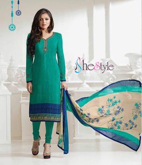 "Alluring Party Embroidered Salwar Suit  Category : Semi stitched Salwar Kameez Material  / French Crepe Salwar Kameez Dress Type : Long Straight Cut Salwar Kameez Suit Design Work : Embroidery Work , Lace Work Dress Style : Designer Embroidery Salwar Kameez Suit Sleeves : Full Sleeves #salwarkameez  #salwarsuit  #new-style   Salwar Kameez  Fabric Details :- Salwar Kameez Top Material : French Crape Heavy Embroidery 44 inch width Salwar Kameez Bottom Material : Shantoon  - 2.0 Mtrs Salwar Kameez Dupatta Material : Georgette- 2.25 Mtrs  Free Shipping in India  Get Latest Updates from us.... Please save this number (+91 755996933) with name shestyle.in and send a WhatsApp message ""SUB"" to given number"