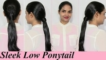 Bollywood inspired Sleek Low Ponytail Hairstyle