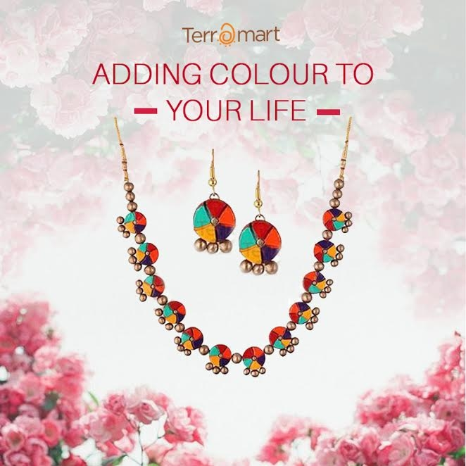 Imagine this: Classic B&W picture and a multi-colour terracotta piece, setting you apart! Shop this here, bit.ly/ShopWithTerramart #terramart #india #handcrafted #awesome #ethniclover