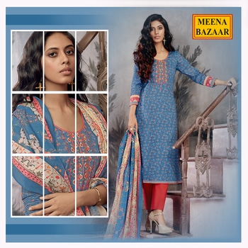 Magnificent digital print suits from our #ShadesOfSummer collection. Click here to shop now: http://www.meenabazaar.com/new-arrivals.html #MeenaBazaar #officialwear #officialkurti #casualwear #indianwear #ethnicwear #ethnicday #occasionwear #designerwear #ootd #delhi #FashionDairies #2017fashiontrends #StreetStyle #Stylish #lookbook #fashionblogger #fashionweek #fashionista #indianfashionblogger #couturefashionweek #couture #hautecouture #style #inspiration #fashioninspiration