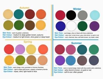 #fourseasons #fourseasoncoloursystem #autumn #winter #spring #summer #skintone  #haircolour  #eyecolor #eyecolour