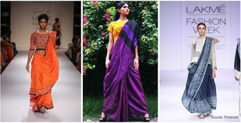 the Lakmé Fashion Week (LFW) launched an enduring idea as well as In continuation to Textile Minister Smriti Irani's #iwearhandloom campaign, the first two days#a of AIFW were also dedicated to Indian handlooms. #lfw #amazonindiafashionweek #hashtaggameon