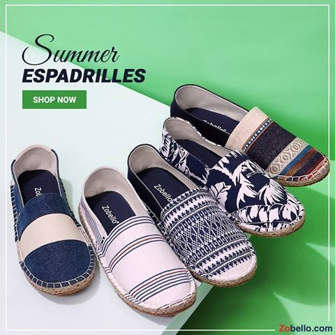 You can't afford to skip this post. Summer style needs the right summer shoes. Shop from our wide range of espadrilles for men.  Shop @ https://goo.gl/BDz9ky  #zobello #shopping #fashion #shoes #espadrilles