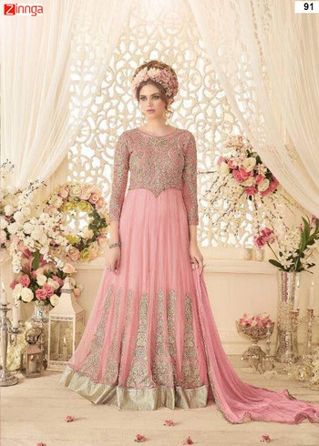Women's Beautiful Net Semi Stitched Salwar Kameez ₹4,995 Hyderabad Shop latest designer salwar kameez suits and kurti collection online. Buy new arrivals exclusive ladies salwar suit and kurtis in different designs and styles At Zinnga.com https://goo.gl/Daqdd3 For more details call / whats app @ 9246261661