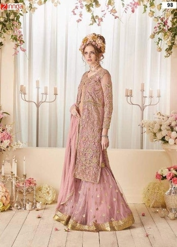 Women's Beautiful Net Semi Stitched Salwar Kameez  Shop latest designer salwar kameez suits and kurti collection online. Buy new arrivals exclusive ladies salwar suit and kurtis in different designs and styles At Zinnga.com https://goo.gl/Daqdd3 For more details call / whats app @ 9246261661