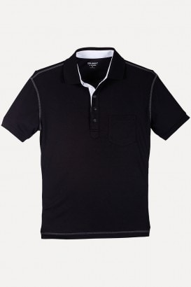 Dri-Best Contrast Placket Rib Collar Cuff Polo