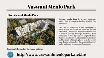 #VaswaniMenloPark is situated @Whitefield of #eastbangalore. Check: http://www.vaswanimenlopark.net.in/ #pictureoftheday #blogger #followme