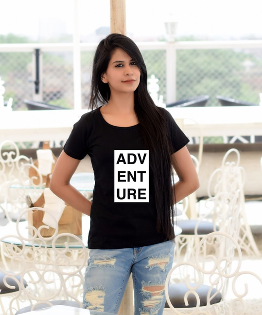 Adventure Women's Round Neck T-shirt  https://goo.gl/iSHwkQ   #hairstyle #mood #styles #selfie #dress #swag #women-fashion #trendy #summerfashion #roposolove #onlineshopping #mumbai #fashionista #outfitoftheday #cool #photography #fashionblogger #summer #summer-style #ootd #picoftheday #shopping #fashion #black #love #beauty #indian #blogger #traveldiaries #fashiondiaries