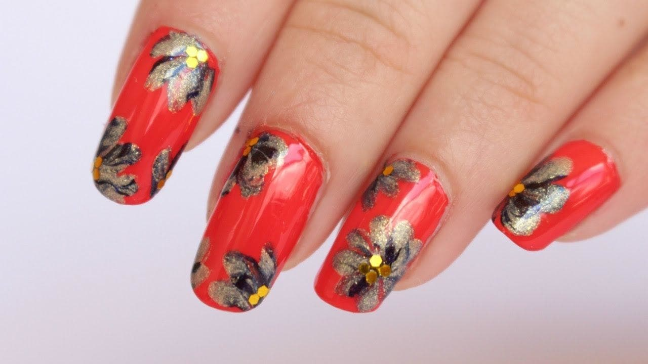 Summer Floral Nail Art Tutorial | Makeupmagique
