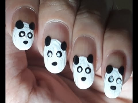 Panda Nail Art | ARS Arts #nails #nailart #nailartdesigns #nailroposo #nailartoftheday