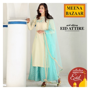 #Eid is around the corner, so let's start with our shopping ladies. Grab our special collection of beautiful attire for the festival. Click here to shop now: http://www.meenabazaar.com/designer-wear/eid/cream-chanderi-sharara-suit.html #MeenaBazaar #casualwear #indianwear #ethnicwear #ethnicday #occasionwear #designerwear #ootd #delhi #FashionDairies #2017fashiontrends #StreetStyle #Stylish #lookbook #fashionblogger #fashionweek #fashionista #indianfashionblogger #couturefashionweek #couture #hautecouture #style #inspiration #fashioninspiration