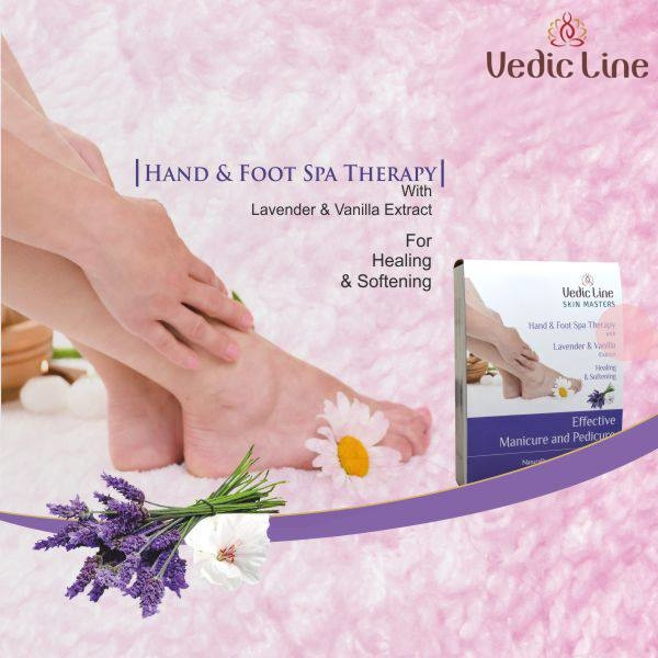 Deluxe #Manicure & #Pedicure System, designed to give complete Satisfaction With Lavender: Heals and repairs cracked heels & dry skin. Vanilla: Soothing, lightly stimulates #blood #circulation.