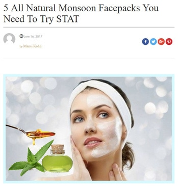 Monsoon SKin Care Click  https://myfashgram.com/beauty/5-all-natural-monsoon-facepacks-you-need-to-try-stat/  #skincare #monsoonskincare #beautytips #skincareroutine #skincaretips #trendy #beauty