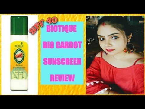 BIOTIQUE BIO CARROT SPF 40 SUNSCREEN HONEST REVIEW #biotique #sunscreen #spf #suntan #tan #skincare
