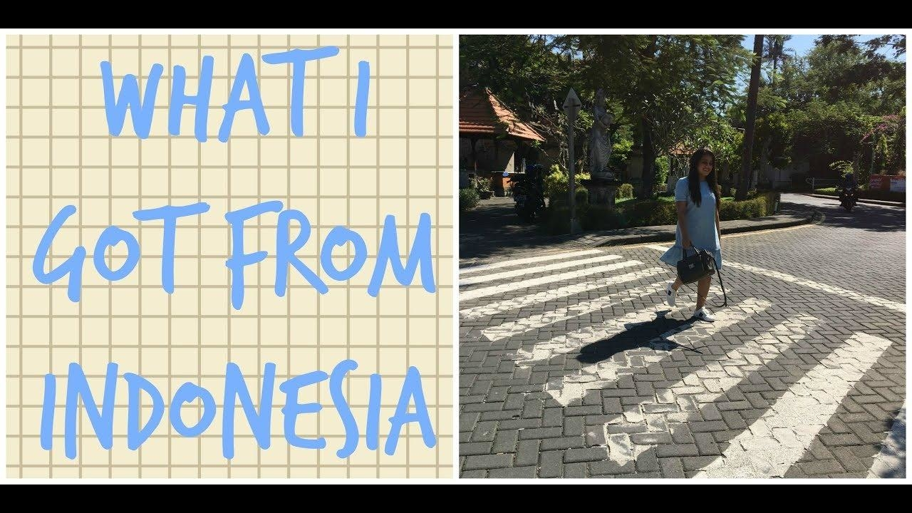 WHAT I GOT FROM INDONESIA | COLLECTIVE HAUL #youtube