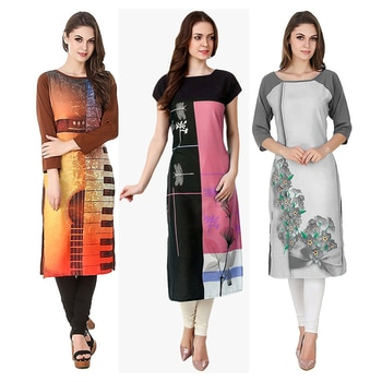 Ethnic Wear Readymade Kurti Combo Pack Of 3 - 50-323-329A-330C @ Rs . 1420 /- Only  Buy Now : https://goo.gl/db3DNb  Available Size : S, M, L, XL   Order On Whatsapp : 09321219977  Flat 10% OFF on First Order ( Use Coupon - IAMNEW10 ) Get Free Home Delivery + COD + Easy EMI + Easy Refund / Replacement Policy.!! *100 % Customer Satisfaction * Stitching Service Available * Hurry Up To Grab Exciting Offer On storeadda !!!! * Worldwide Shipping  #dressmaterial #crepe #salwarkameez #womensonlineshopping #sale #storeadda #fashionblogger #blogstyle #blogs #blogging #punjabisuit #salwarkameez #blog #wedding #Weddingsuits #Palazzosuits #fashionblogs #patialasuits #patiyala-suit #karishmakapoor #roposostyle #pant_suits #kurti #multi-colour #crepe #digitalprinted #readymadekurti  #officewear #ethnic-wear #printed #kurtistyles #kurtiset  #officewear #ethnicwearonline #kurtionlineshopping  #combo #kurti #packof3 #kurti #kurtionlineshopping  #ropostyle #kurtionlineshopping #womenkurtis #women-branded-shopping