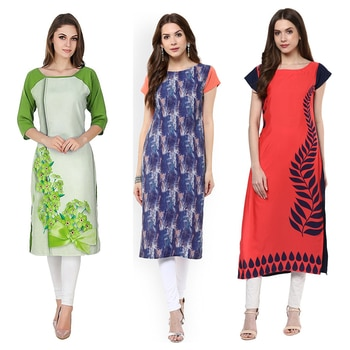 Office Wear Readymade Kurti Combo Pack Of 3 - 50-330B-327-324 @ Rs . 1420 /- Only  Buy Now : https://goo.gl/VvwLMm  Available Size : S, M, L, XL   Order On Whatsapp : 09321219977  Flat 10% OFF on First Order ( Use Coupon - IAMNEW10 ) Get Free Home Delivery + COD + Easy EMI + Easy Refund / Replacement Policy.!! *100 % Customer Satisfaction * Stitching Service Available * Hurry Up To Grab Exciting Offer On storeadda !!!! * Worldwide Shipping  #dressmaterial #crepe #salwarkameez #womensonlineshopping #sale #storeadda #fashionblogger #blogstyle #blogs #blogging #punjabisuit #salwarkameez #blog #wedding #Weddingsuits #Palazzosuits #fashionblogs #patialasuits #patiyala-suit #karishmakapoor #roposostyle #pant_suits #kurti #multi-colour #crepe #digitalprinted #readymadekurti  #officewear #ethnic-wear #printed #kurtistyles #kurtiset  #officewear #ethnicwearonline #kurtionlineshopping  #combo #kurti #packof3 #kurti #kurtionlineshopping  #ropostyle #kurtionlineshopping #womenkurtis #women-branded-shopping #youtuber