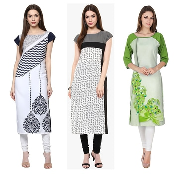 ffice Wear Readymade Kurti Combo Pack Of 3 - 50-325-331-330B @ Rs . 1420 /- Only  Buy Now : https://goo.gl/eBk82H  Available Size : S, M, L, XL   Order On Whatsapp : 09321219977  Flat 10% OFF on First Order ( Use Coupon - IAMNEW10 ) Get Free Home Delivery + COD + Easy EMI + Easy Refund / Replacement Policy.!! *100 % Customer Satisfaction * Stitching Service Available * Hurry Up To Grab Exciting Offer On storeadda !!!! * Worldwide Shipping  #dressmaterial #crepe #salwarkameez #womensonlineshopping #sale #storeadda #fashionblogger #blogstyle #blogs #blogging #punjabisuit #salwarkameez #blog #wedding #Weddingsuits #Palazzosuits #fashionblogs #patialasuits #patiyala-suit #karishmakapoor #roposostyle #pant_suits #kurti #multi-colour #crepe #digitalprinted #readymadekurti  #officewear #ethnic-wear #printed #kurtistyles #kurtiset  #officewear #ethnicwearonline #kurtionlineshopping  #combo #kurti #packof3 #kurti #kurtionlineshopping  #ropostyle #kurtionlineshopping #womenkurtis #women-branded-shopping #youtuber