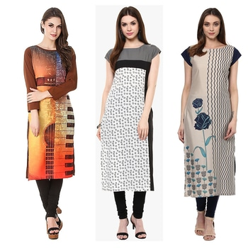 Office Wear Readymade Combo Pack Of 3 Kurti - 50-323-331-332 @ Rs . 1420 /- Only  Buy Now : https://goo.gl/h8CUu8  Available Size : S, M, L, XL   Order On Whatsapp : 09321219977  Flat 10% OFF on First Order ( Use Coupon - IAMNEW10 ) Get Free Home Delivery + COD + Easy EMI + Easy Refund / Replacement Policy.!! *100 % Customer Satisfaction * Stitching Service Available * Hurry Up To Grab Exciting Offer On storeadda !!!! * Worldwide Shipping  #dressmaterial #crepe #salwarkameez #womensonlineshopping #sale #storeadda #fashionblogger #blogstyle #blogs #blogging #punjabisuit #salwarkameez #blog #wedding #Weddingsuits #Palazzosuits #fashionblogs #patialasuits #patiyala-suit #karishmakapoor #roposostyle #pant_suits #kurti #multi-colour #crepe #digitalprinted #readymadekurti  #officewear #ethnic-wear #printed #kurtistyles #kurtiset  #officewear #ethnicwearonline #kurtionlineshopping  #combo #kurti #packof3 #kurti #kurtionlineshopping  #ropostyle #kurtionlineshopping #womenkurtis #women-branded-shopping #youtuber