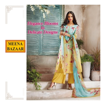 Meticulously printed with beguiling floral depiction. This suit is a perfect combination of elegant design and beautiful craftsmanship. Click here to shop: http://www.meenabazaar.com/new-arrivals.html  #FestiveEssentials #MeenaBazaar #officialwear #officialkurti #casualwear #indianwear #ethnicwear #ethnicday #occasionwear #designerwear #ootd #delhi #FashionDairies #2017fashiontrends #StreetStyle #Stylish #lookbook #fashionblogger #fashionweek #fashionista #indianfashionblogger #couturefashionweek #couture #hautecouture #style #inspiration #fashioninspiration
