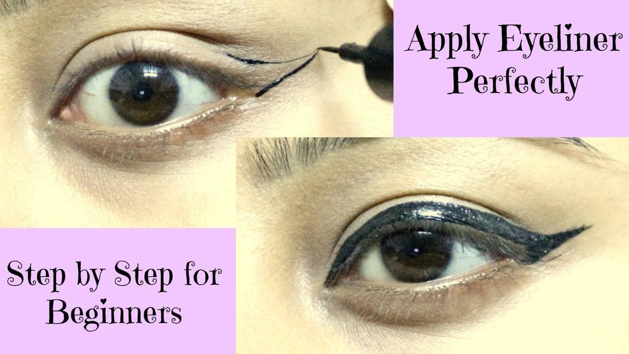 How to Apply Eyeliner Perfectly || Step by Step for Beginners
