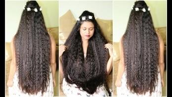 Boho Hairstyle| Easy Heatless Overnight Curls Tutorial | Sushmita's Diaries