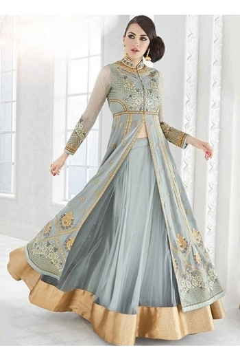 Party Wear Light Grey Georgette Lehenga Suit - Glossy7212 @ Rs . 3750 /- Only  Buy Now : https://goo.gl/c97Vjq  Order On Whatsapp : 09321219977  Flat 10% OFF on First Order ( Use Coupon - IAMNEW10 ) Get Free Home Delivery + COD + Easy EMI + Easy Refund / Replacement Policy.!!  *100 % Customer Satisfaction * Stitching Service Available * Hurry Up To Grab Exciting Offer On storeadda !!!! * World Wide Shipping   #anarkalisuit #embroidered #anarkalidress #salwarsuit #longanarkali #storeadda #sale #salealert #womensonlineshopping #onlineshopping #georgette #ethnic-wear #anarkalisonline #fashionblogger #blogstyle #blogging #fashionblog #fashionbloggerindia #indianstyle #salwarsuit #dressmaterial #salwarkameez #ethnicwear   #anarkalidress #palazzostyle #palazzo #palazopants #capedress #capestyle #lightgrey #georgette #lehengasuit #lehengaskirt #embroidery  #ethnicwearonline   #roposo #youtuber #womenstyle #womenfassion #womenshopping #womansclothingonline #women-branded-shopping #designerlehenga