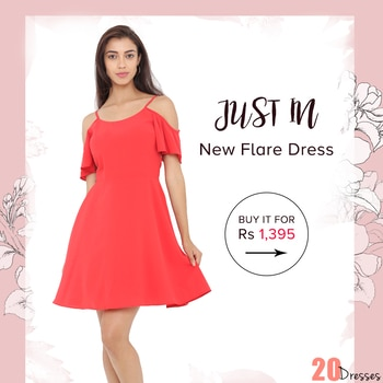 Step out in style in our flattering flare dress which is perfect for any day of the week! #20dresses #20d #postoftheday #picoftheday #pickoftheday #online #onlineshopping #ecommerce #apparel #dresses #fitnflare #trending #trendalert #casual