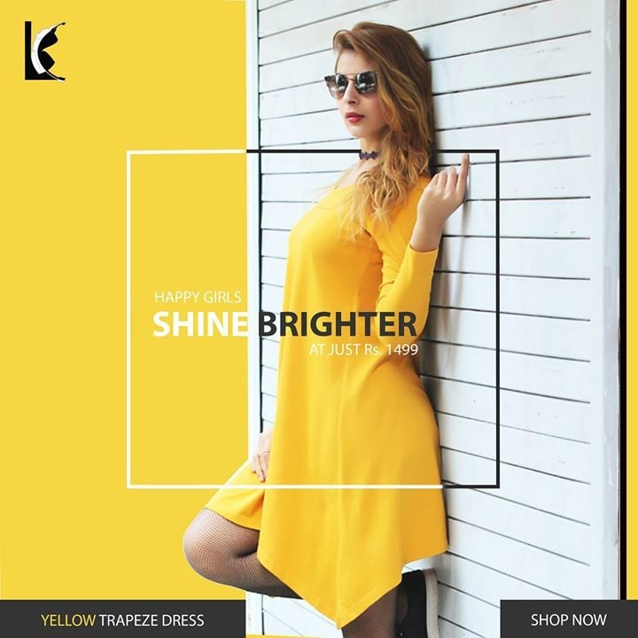 """There is no blue without yellow and without orange"" Fill Your Wardrobe With Trendy Summer Collection from Le Chaperon Hit The Link To Get This awesome piece http://amzn.to/2q6RwN5 #onepiece #shortdress #stylish #dresses #yellowdress #dressoftheday #trendy #fashion #lifestyle"