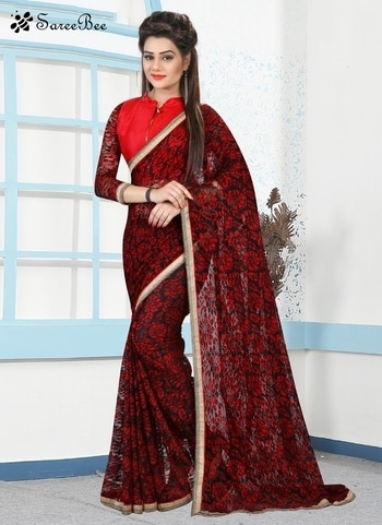 Vivacious Net Lace Work Casual   Bargandy Color  Saree 4083   For More Information WhatsApp 7202080091 Or Visit www.SareeBee.com    #red #designer #instagram #kurti #fashionista #makeup #delhi #outfitoftheday #women-fashion #myfirststory #model #indian #saree #ramadanmubarak #trendy #ethnic #picoftheday #menonroposo #roposolove #cool #firstpost #soroposo #summer-style #streetstyle #summer #newdp #beauty #traveldiaries #styles #youtuber   #lehengas #summer-fashion #summerfashion #bollywood #fun #dress #streetstyle #ethnic #designer #styles #travel #indianblogger #roposo #selfie #trendy #lookoftheday #summer #ropo-love #styling #fashionista #cannesfilmfestival #roposogal #shopping #blogger #cool #Womenonroposo  #summer-fashion #summerfashion #raabtathemovie #rocknshop #food #bollywood #fun #dress #ootd #streetstyle #ethnic #designer #styles #travel #indianblogger #roposo #selfie #trendy #lookoftheday #summer #ropo-love #casualvibes #styling #fashionista #cannesfilmfestival #roposogal #shopping #blogger #cool #menonroposo #ethnicwear #ramdan #Eidmubarakh #eid2017