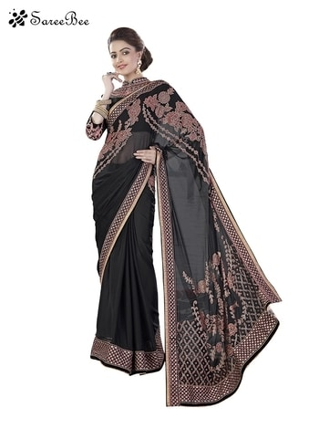 Paramount Georgette Trendy   Black Color Lace Work Saree 3938    For More Information WhatsApp 7202080091 Or Visit www.SareeBe.com   #red #designer #instagram #kurti #fashionista #makeup #delhi #outfitoftheday #women-fashion #myfirststory #model #indian #saree #ramadanmubarak #trendy #ethnic #picoftheday #menonroposo #roposolove #cool #firstpost #soroposo #summer-style #streetstyle #summer #newdp #beauty #traveldiaries #styles #youtuber   #lehengas #summer-fashion #summerfashion #bollywood #fun #dress #streetstyle #ethnic #designer #styles #travel #indianblogger #roposo #selfie #trendy #lookoftheday #summer #ropo-love #styling #fashionista #cannesfilmfestival #roposogal #shopping #blogger #cool #Womenonroposo  #summer-fashion #summerfashion #raabtathemovie #rocknshop #food #bollywood #fun #dress #ootd #streetstyle #ethnic #designer #styles #travel #indianblogger #roposo #selfie #trendy #lookoftheday #summer #ropo-love #casualvibes #styling #fashionista #cannesfilmfestival #roposogal #shopping #blogger #cool #menonroposo #ethnicwear #ramdan #Eidmubarakh #eid2017