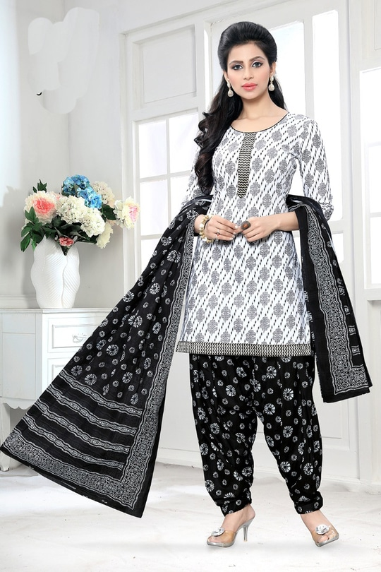 White Black Pure Cotton Printed Unstitched Patiala Dress Material  Top - 2.3 Mtrs, Bottom - 2.45 Mtrs, Dupatta - 2.25 Mtrs (Approx)  Can be stitched in Patiala Style/Churidar Style/Salwar Style/Pants Style  Price - 630/-  Free Delivery Anywhere in India  Ask for Discount Code while Purchasing   #purecottonforhotsummers #purecottoncollection #cottonclothes #cottonsalwarsuit #cottondress #cottonsuits #cottonsalwar #ethnicwear #ethnicwearonline #eidmubarak #eidmubarak2017 #shopnow #shopnowonline #shopping #trendy #fashion #be-fashionable #summer-fashion #summeroutfit #designer #patialasuit #patiyalas #patialasuits2017 #patiala_salwar #patialashahi