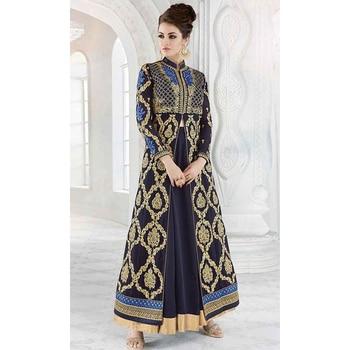 Blue Party Wear Floor Length Anarkali Suit  • Party Wear Floor Length Designer Suit • Fabric : Georgette • Salwar Fabric : Santoon • Dupatta Fabric : Chiffon • Inner Fabric : Crepe • Size : Semi-Stitched (customizable Upto size-44)  SKU: SUENMGL7216  Rs. 5,199.00