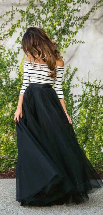 #6 off shoulder top with maxi skirt