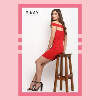 Nothing speaks confidence and glamour like a red dress does! #miwayfashion #ootn #ootd #redbodycon #miwaystyle #reddressshehnanigans